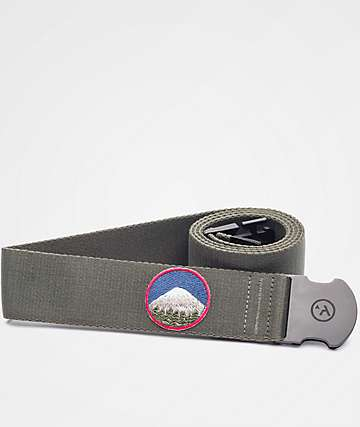 Arcade Rambler Mountain Olive Green Clip Belt