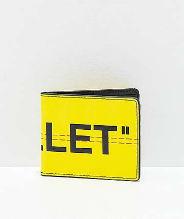 "Artist Collective ""Wallet"" Yellow Bifold Wallet"