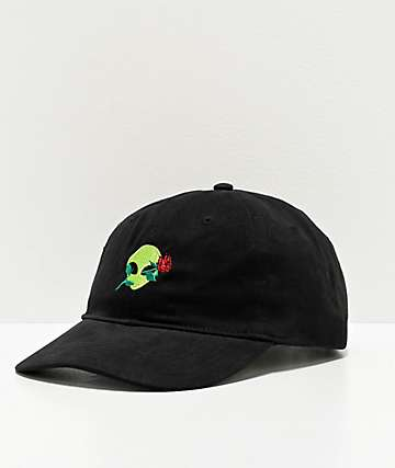 Artist Collective Alien Rose Black Strapback Hat