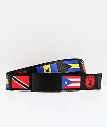 Artist Collective Bodega Black Web Belt