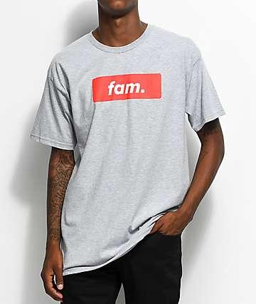 Artist Collective Fam. Box Logo camiseta gris