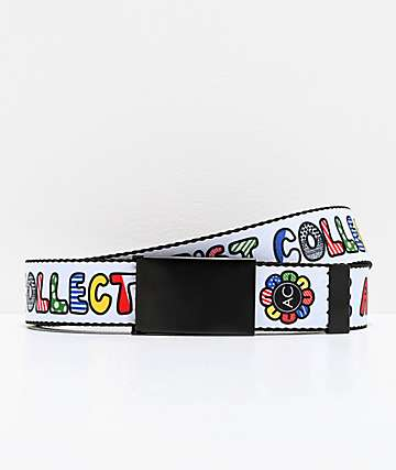 Artist Collective Flower Globe Web Belt