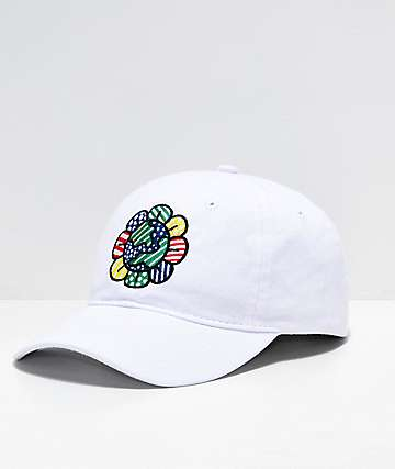 Artist Collective Flower Globe White Strapback Hat