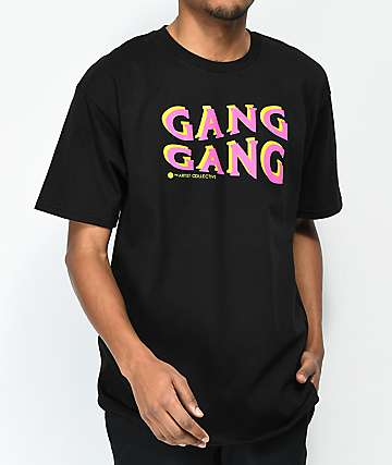 Artist Collective Gang Gang Wave Black T-Shirt