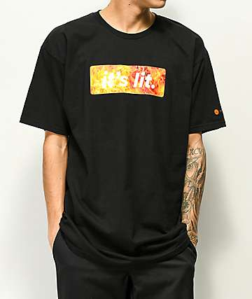 Artist Collective It's Lit Flame Box Black T-Shirt