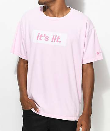 Artist Collective Its Lit Tonal Light Pink T-Shirt