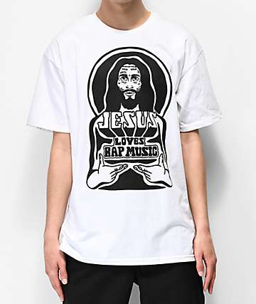 Artist Collective Jesus Loves Rap White T-Shirt
