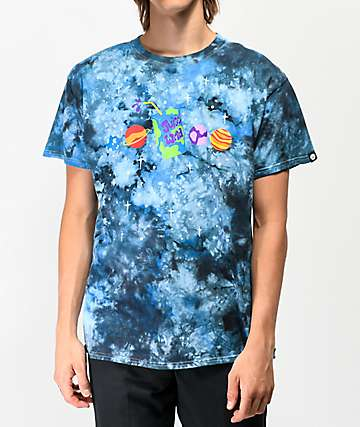 Artist Collective Juice Box Galaxy Blue Tie Dye T-Shirt