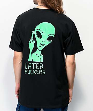 Artist Collective Later Alien Flip Black T-Shirt