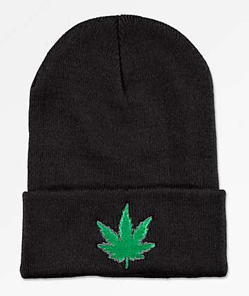 Artist Collective Leaf Black Beanie