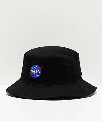 Artist Collective NASA Logo Black Bucket Hat