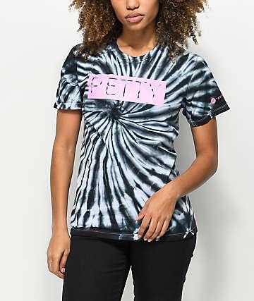 Artist Collective Petty Black Spiral Tie Dye T-Shirt