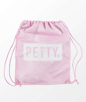 Artist Collective Petty Pink & White Cinch Bag