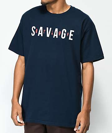 Artist Collective Savage Navy T-Shirt