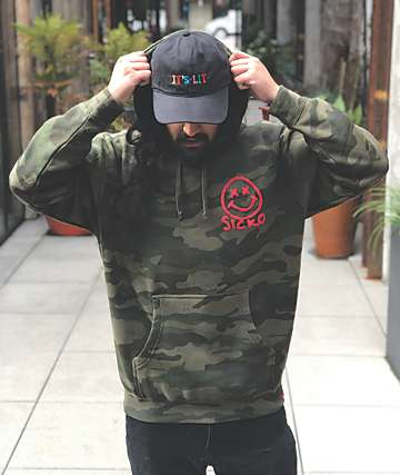 Artist Collective Sick Smile Camo Hoodie