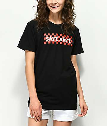 Artist Collective Skrt Skrt Checker Black T-Shirt