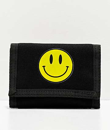 Artist Collective Smile Black Trifold Wallet