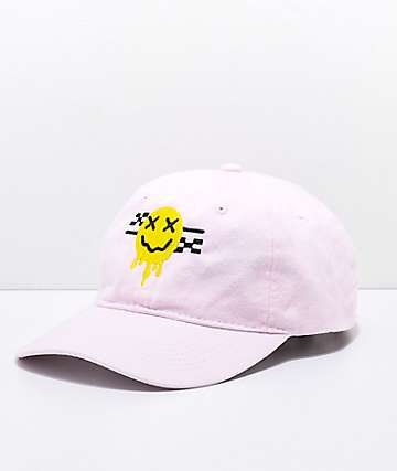 Artist Collective Smiley Melt gorra rosa