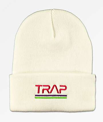 Artist Collective Space Trap White Beanie