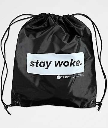 Artist Collective Stay Woke Louis Black Cinch Bag