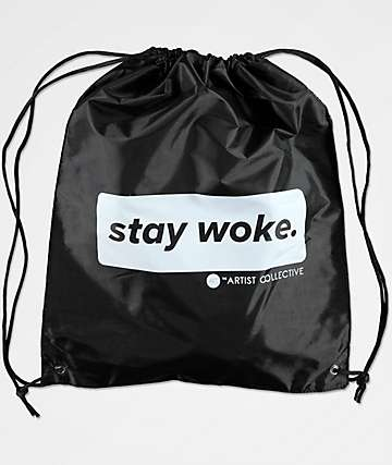 Artist Collective Stay Woke Louis bolso negro con cordones