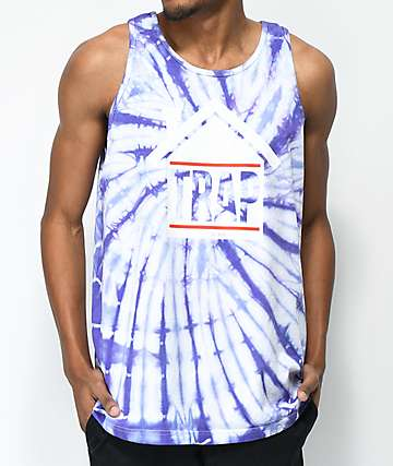 Artist Collective Trap Purple Tie Dye Tank Top