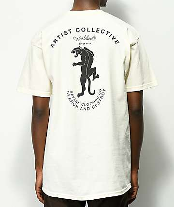 Artist Collective Worldwide Panther Cream T-Shirt