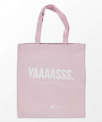Artist Collective Yaaaasss Pink & White Tote Bag
