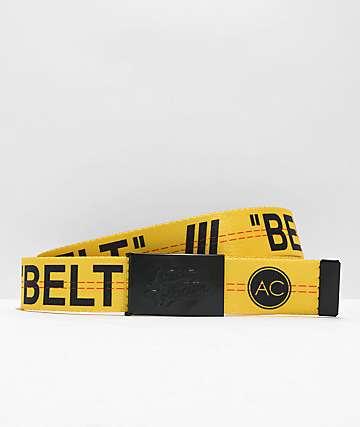 Artist Collective cinturón tejido amarillo