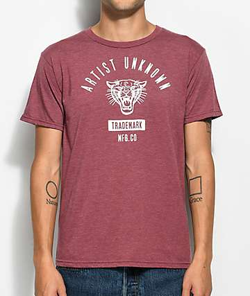 Artist Unknown Collegiate Heather Burgundy T-Shirt