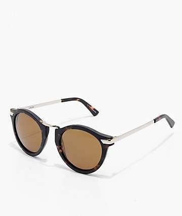 Ashbury Crow gafas de sol de carey en marrón mate
