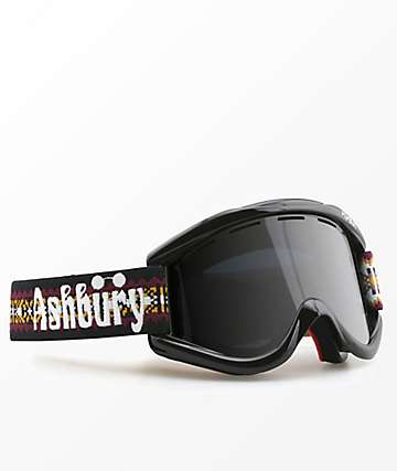 Ashbury Kaleidoscope Knit Dark Smoke Snowboard Goggles