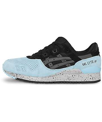 Asics Gel-Lyte III Black & Powder Blue Shoes