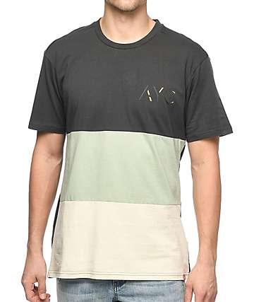 Asphalt Yacht Club camiseta alargada en colores crema y plomo