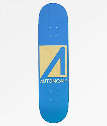 "Autonomy Blue Logo 7.75"" Skateboard Deck"
