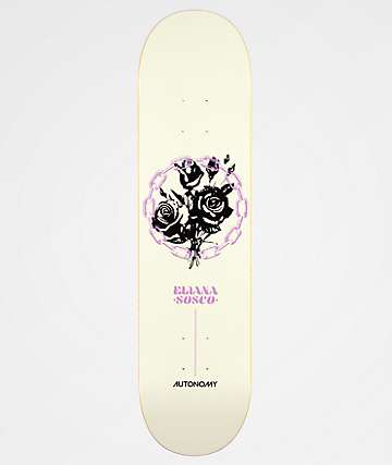 "Autonomy Eliana 7.75"" White Skateboard Deck"