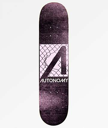 "Autonomy No Comply 7.5"" Black & Purple Skateboard Deck"