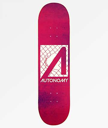 "Autonomy No Comply 8.25"" Red & White Skateboard Deck"