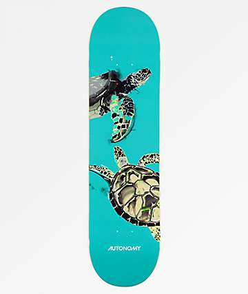 "Autonomy Turtle Endangered 8.0"" Skateboard Deck"
