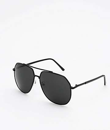 Aviator Black Mirrored Sunglasses