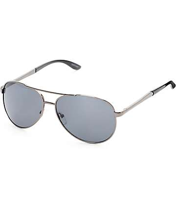 Aviator Captain Black Sunglasses