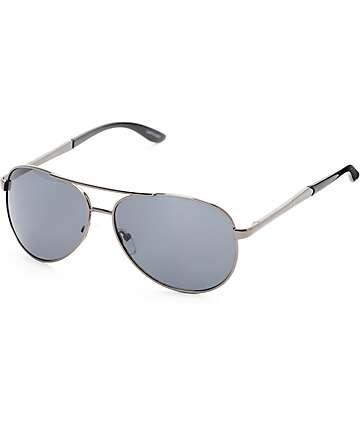 Aviator Captain Black Sunglasses