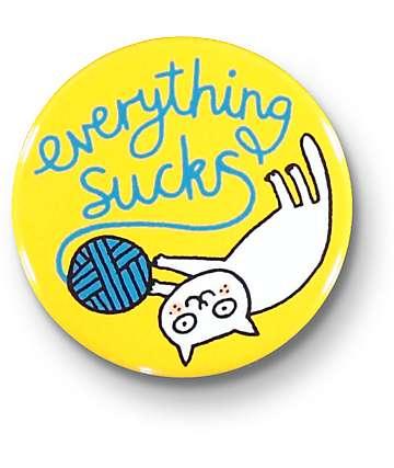 Badge Bomb Everything Sucks Big Magnet