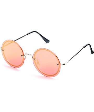 Bailey Rimless Round Sunglasses