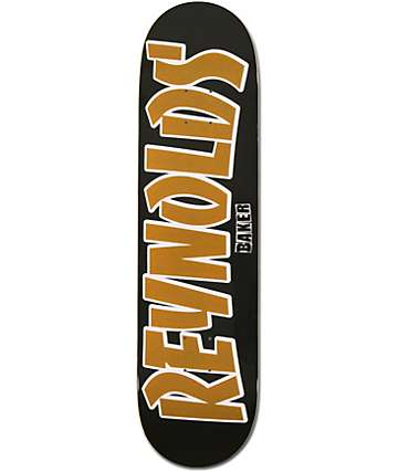 """Baker Andrew Reynolds Thrash Name Black 8.125""""   Skateboard Deck"""