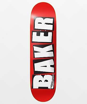 """Baker Brand Logo White & Red 8.25"""" Skateboard Deck"""