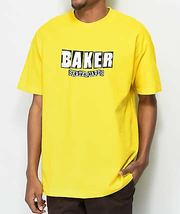 Baker Brand Logo camiseta amarilla