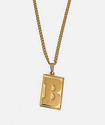 Baker Capital B 18K Gold Necklace