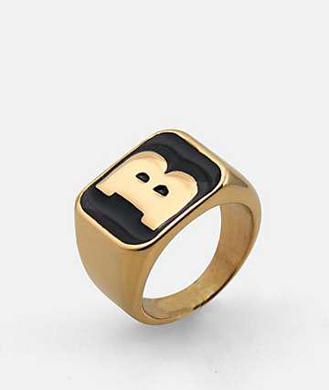 Baker Capital B Gold & Black Ring