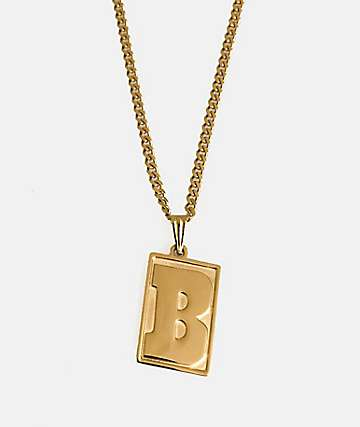 Baker Capital B Gold Necklace
